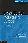 Cover of Cross-Border Mergers in Europe: Volume 2