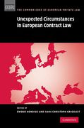 Cover of Unexpected Circumstances in European Contract Law