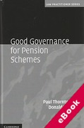 Cover of Good Governance for Pension Schemes (eBook)