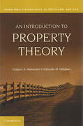 Cover of An Introduction to Property Theory