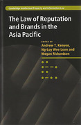 Cover of The Law of Reputation and Brands in the Asia Pacific