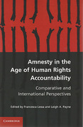 Cover of Amnesty in the Age of Human Rights Accountability: Comparative and International Perspectives