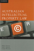 Cover of Australian Intellectual Property Law