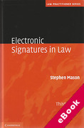 Cover of Electronic Signatures in Law (eBook)