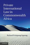 Cover of Private International Law in Commonwealth Africa