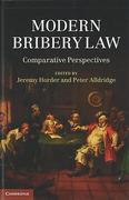 Cover of Modern Bribery Law: Comparative Perspectives