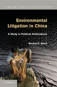 Cover of Environmental Litigation in China: A Study in Political Ambivalence