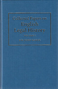 Cover of Collected Papers on English Legal History