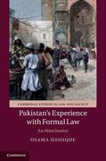 Cover of Pakistan's Experience with Formal Law: An Alien Justice