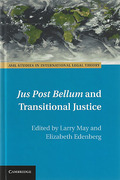 Cover of Jus Post Bellum and Transitional Justice