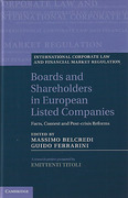 Cover of Boards and Shareholders in European Listed Companies: Facts, Context and Post-Crisis Reforms