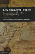 Cover of Law and Legal Process: Substantive Law and Procedure in English Legal History