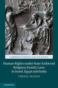 Cover of Human Rights Under State-Enforced Religious Family Laws in Israel, Egypt, and India