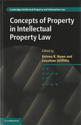 Cover of Concepts of Property in Intellectual Property Law