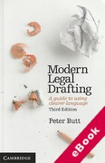 Cover of Modern Legal Drafting: A Guide to Using Clearer Language (eBook)
