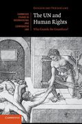 Cover of The UN and Human Rights: Who Guards the Guardians?