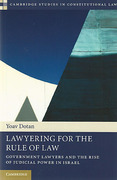 Cover of Lawyering for the Rule of Law: Government Lawyers and the Rise of Judicial Power in Israel
