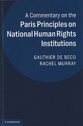 Cover of A Commentary on the Paris Principles on National Human Rights Institutions