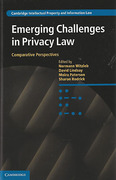 Cover of Emerging Challenges in Privacy Law: Comparative Perspectives