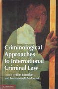 Cover of Criminological Approaches to International Criminal Law