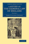 Cover of A History of the Criminal Law of England: Volume 2