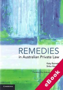 Cover of Remedies in Australian Private Law (eBook)