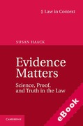 Cover of Law in Context: Evidence Matters: Science, Proof, and Truth in the Law (eBook)