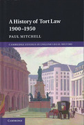 Cover of A History of Tort Law 1900-1950
