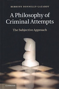 Cover of A Philosophy of Criminal Attempts