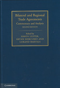Cover of Bilateral and Regional Trade Agreements: Commentary and Analysis