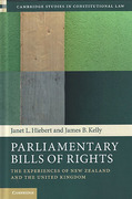 Cover of Parliamentary Bills of Rights: The Experiences of New Zealand and the United Kingdom Experiences