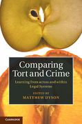 Cover of Comparing Tort and Crime : Learning from Across and Within Legal Systems