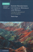 Cover of Export Restrictions on Critical Minerals and Metals: Testing the Adequacy of WTO Disciplines