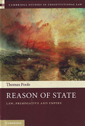 Cover of Reason of State: Law, Prerogative and Empire
