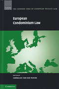 Cover of European Condominium Law