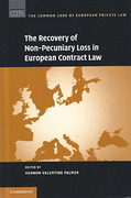 Cover of The Recovery of Non-Pecuniary Loss in European Contract Law