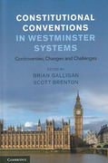 Cover of Constitutional Conventions in Westminster Systems: Controversies, Changes and Challenges