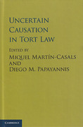 Cover of Uncertain Causation in Tort Law
