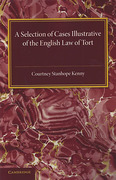 Cover of A Selection of Cases Illustrative of the English Law of Tort