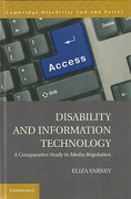Cover of Disability and Information Technology: A Comparative Study in Media Regulation
