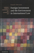 Cover of Foreign Investment and the Environment in International Law