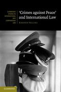 Cover of Crimes Against Peace and International Law