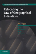 Cover of Relocating the Law of Geographical Indications
