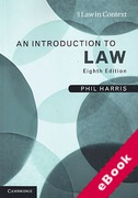 Cover of Law in Context: An Introduction to Law (eBook)