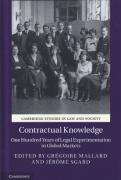 Cover of Contractual Knowledge: One Hundred Years of Legal Experimentation in Global Markets