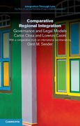 Cover of Comparative Regional Integration: Governance and Legal Models