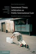 Cover of Investment Treaty Arbitration as Public International Law: Procedural Aspects and Implications