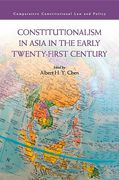 Cover of Constitutionalism in Asia in the Early Twenty-First Century