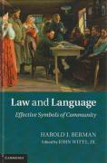 Cover of Law and Language: Effective Symbols of Community