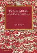 Cover of The Origin and History of Contract in Roman Law: Down to the End of the Republican Period